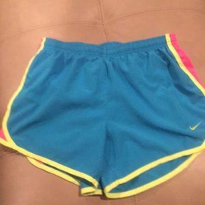 Nike Girls Blue Dry-Fit Shorts Size-Girls Large